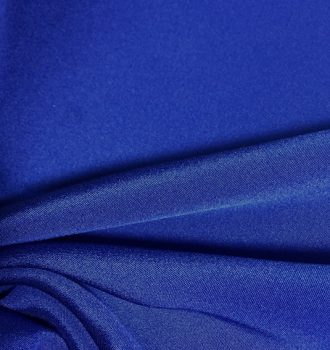 Kobaltowa krepa jedwabna